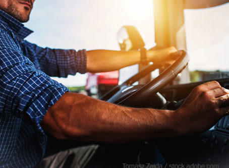 Truck Driver behind the wheel
