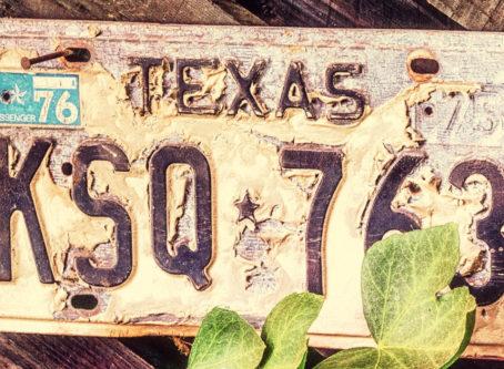 Vintage Texas license plate