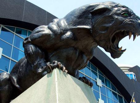 Carolina Panther statue