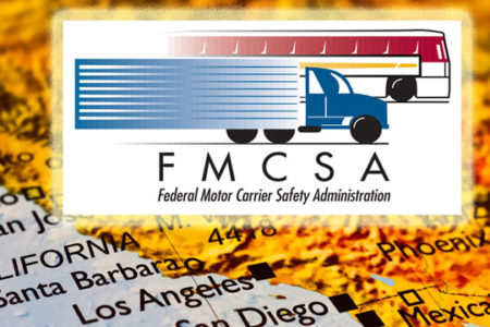 FMCSA logo on California map