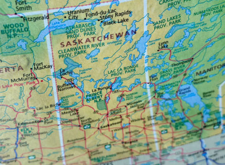 Map Saskatchewan, Canada