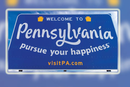Welcome to Pennsylvania sign