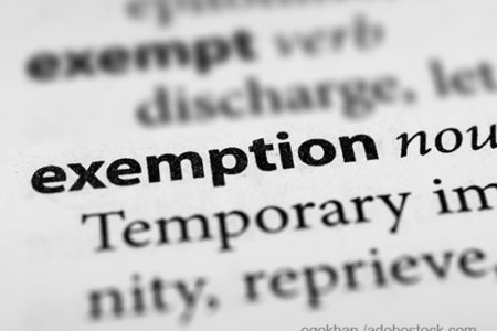 exemption dictionary definition