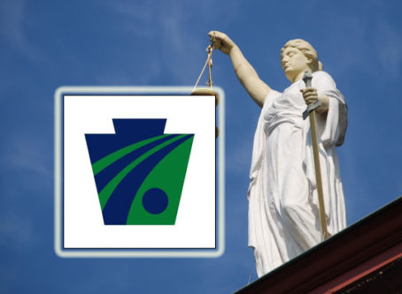 PenDOT logo, Lady Justice