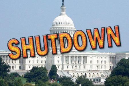 U.S. Capitol, SHUTDOWN overprint