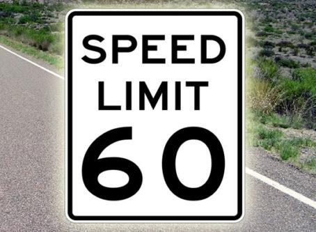 60 mph sign