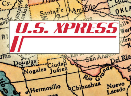 U.S. Xpress logo, Southwest US Map