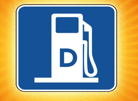 Diesel fuel road sign symbol