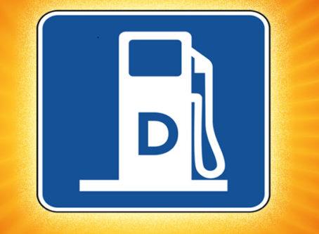 Diesel fuel road sign symbol