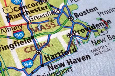 Massachusetts-Connecticut atlas map