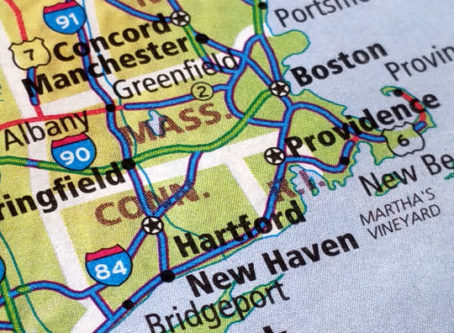 Massachusetts-Connecticut atlas map
