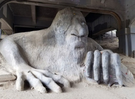 Troll under Fremont Bridge in Seattle