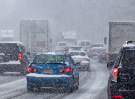 Winter Weather on highway, snow and ice removal