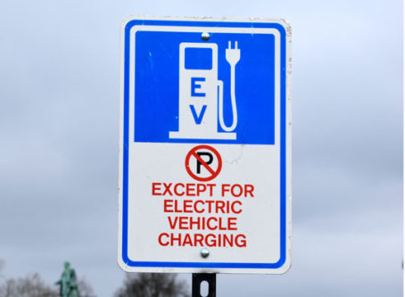 Sign for electric vehicle charging