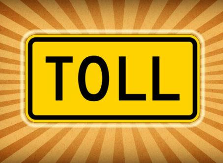 TOLL sign tolls