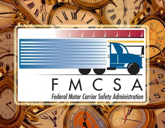 FMCSA logo, clocks
