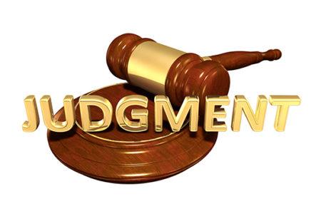 gavel judgment