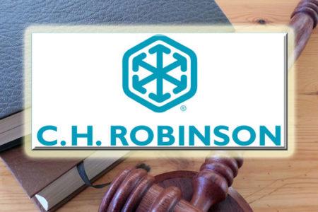 CH Robinson logo, gavel, lawbooks