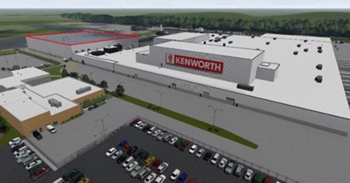 Artists rendering of Kenworth plant