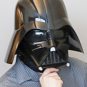 James Fetzer Darth Vader mask