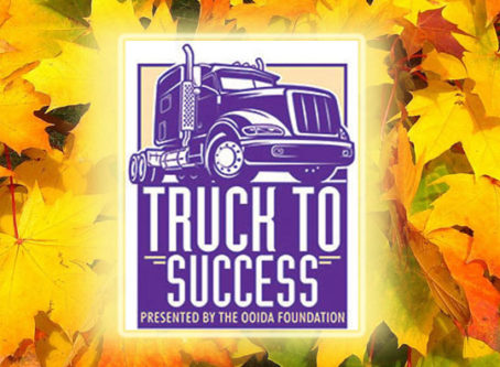 Truck to Success logo over fall leaves