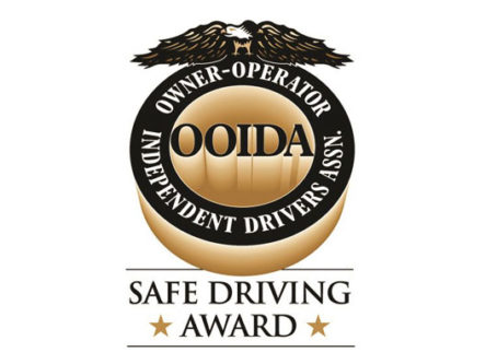 OOIDA Safe Driving Award recognizing safe driving records