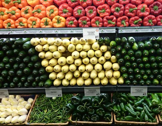 Produce in grocery store freight rates