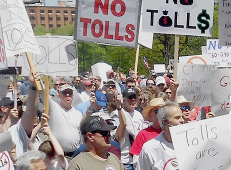 Toll protestors Connecticut toll