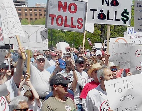 Toll protestors