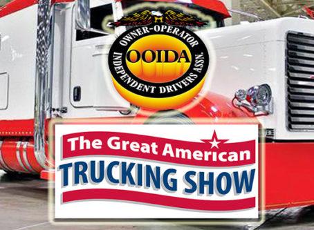 OOIDA, GATS logo, GATS show truck