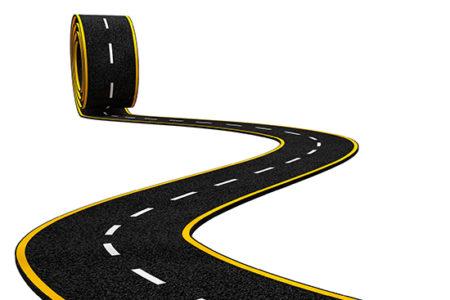 new winding asphalt road
