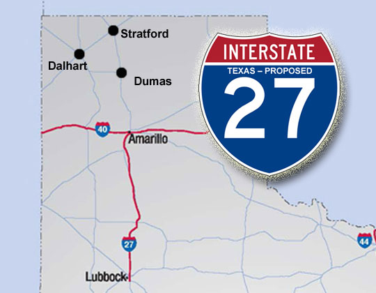 Texas to study extension of Interstate 27 - Land Line on