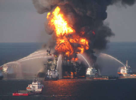 U.S. Coast Guard image of 2010 Deepwater Horizon Gulf oil spill
