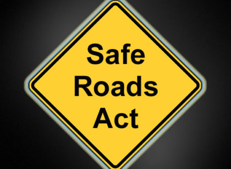 Warning sign, Safe Roads Act