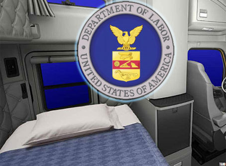 Department of Labor logo, Kenworth 2019 sleeper berth