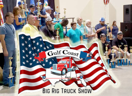 Gulf Coast Big Rig Truck Show logo, award winners and trophies.