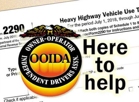 Form 2290, OOIDA logo