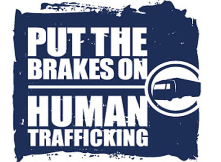 U.S. DOT Put the Brakes on Human Trafficking logo