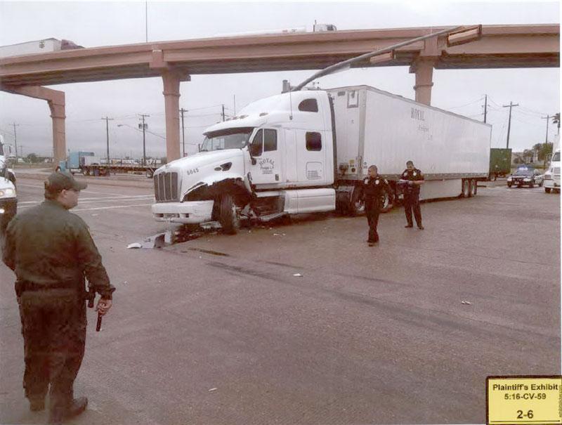 Ambrosio Langoria's damaged truck