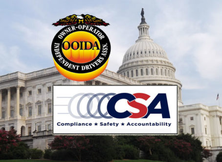 CSA logo, OOIDA logo, U.S. Capitol