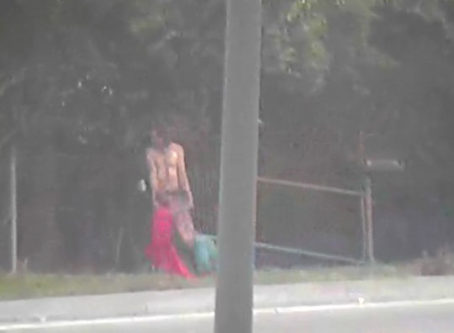 man with blow-up doll from KCMO Police