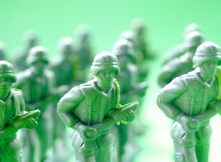 Toy soldiers fighting hours of service