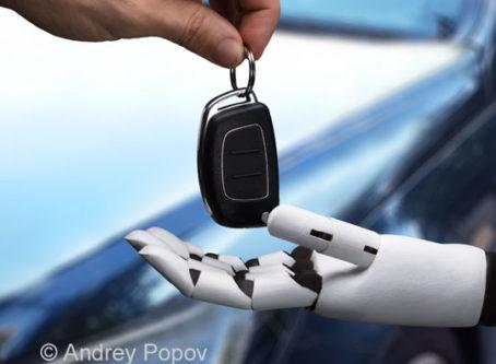 Robot hand taking vehicle keys