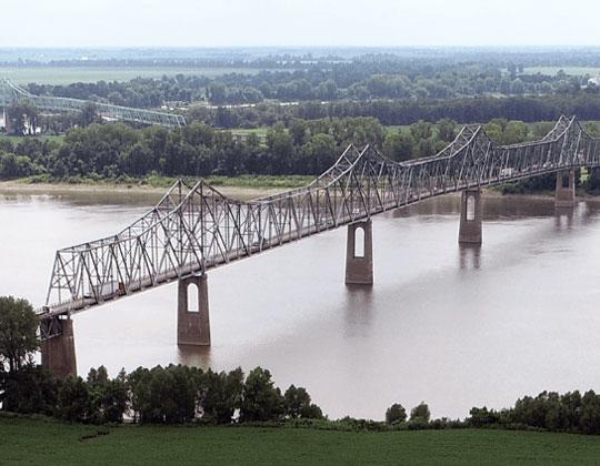 Cairo Bridge ove r the Ohio River