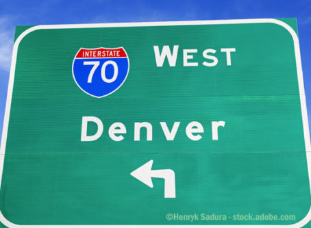 Denver Interstate 70 sign