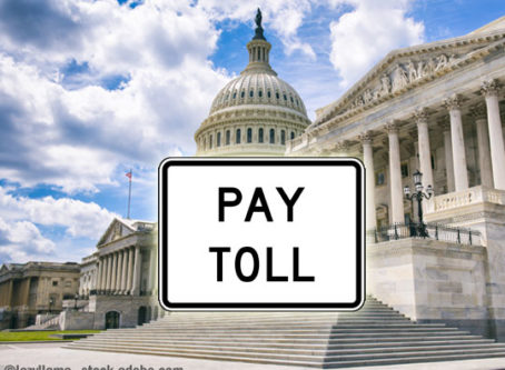 US Capitol, pay toll sign,