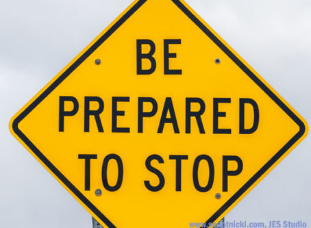 Be Prepared to Stop sign for Brake Safety Week