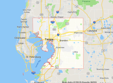 Google Map of Tampa, Hillsborough County, Fla.