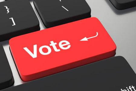 Vote key instead of return key, online registration