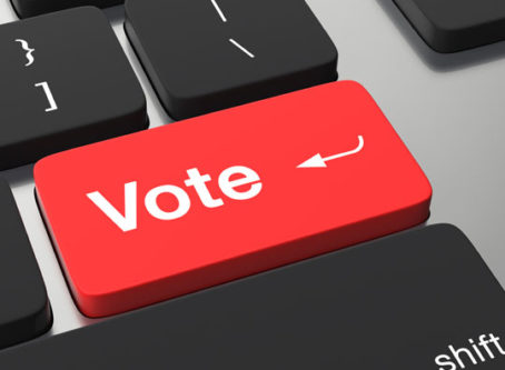 Vote key instead of return key, online registration